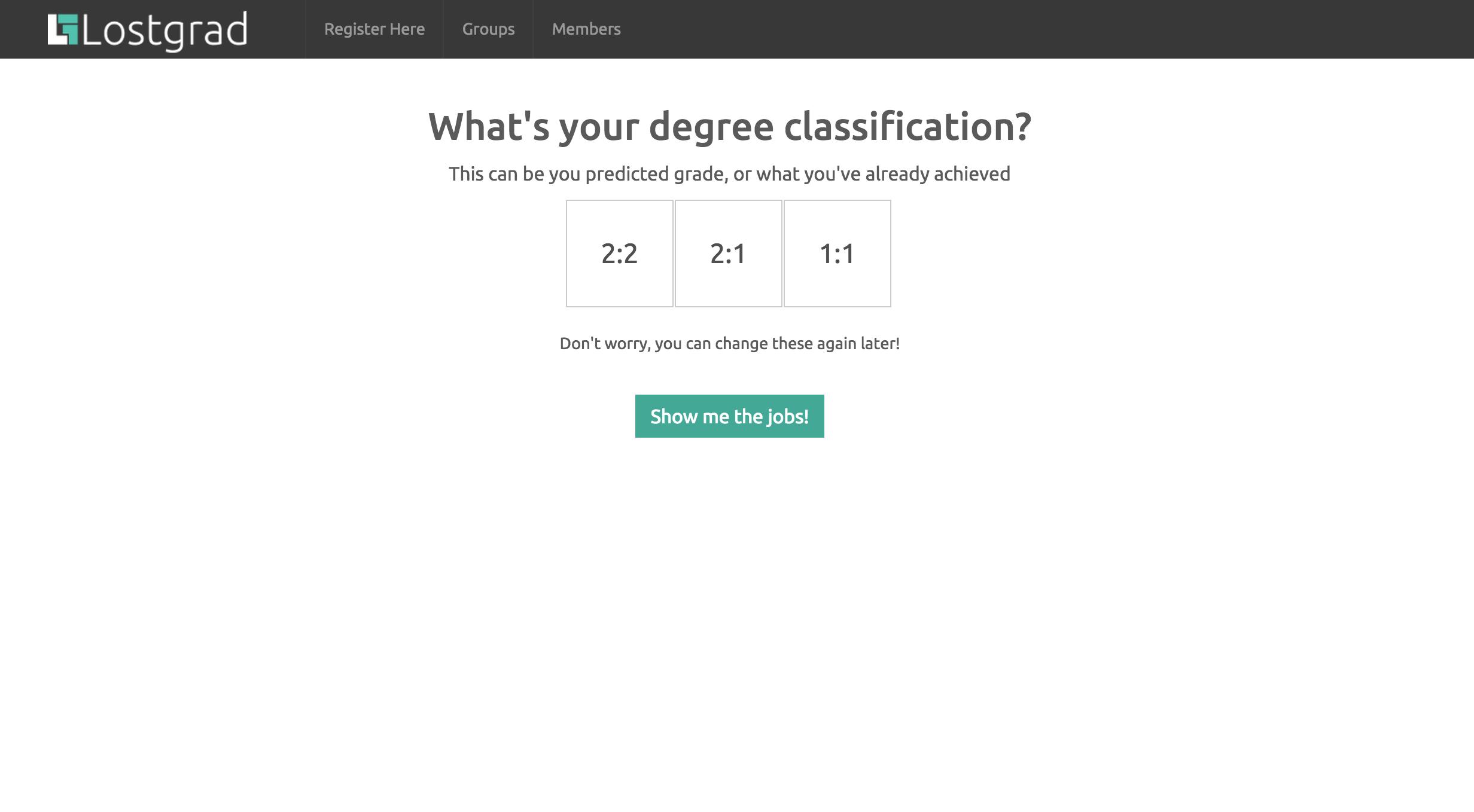 select grade screenshot
