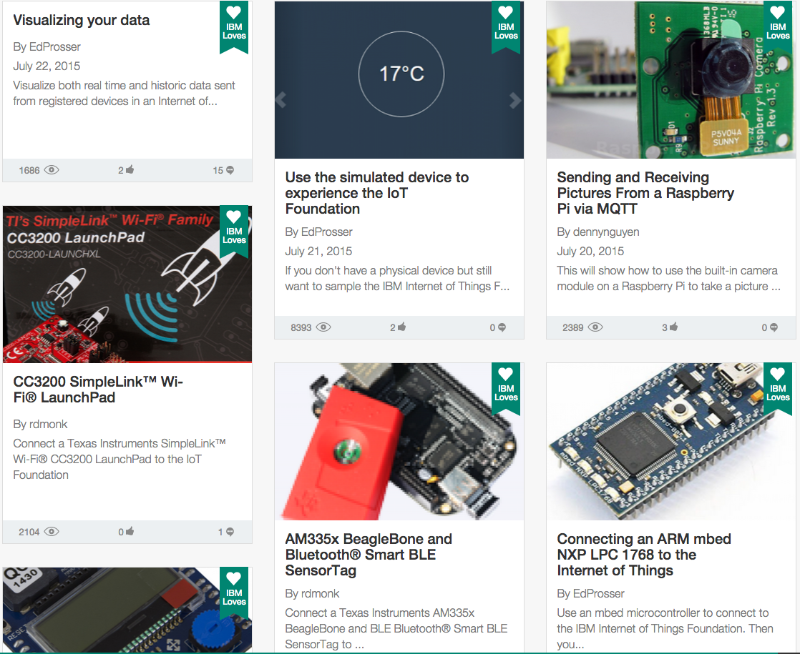 IBM IoT Recipes