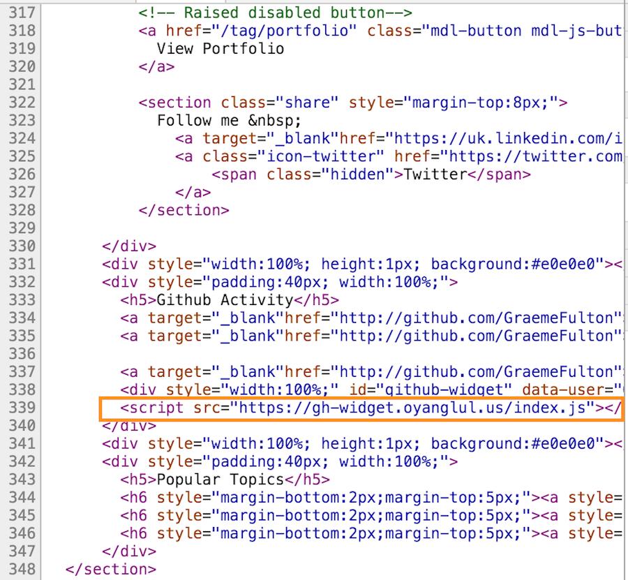 render blocking javascript script tag in sources tab of dev tools