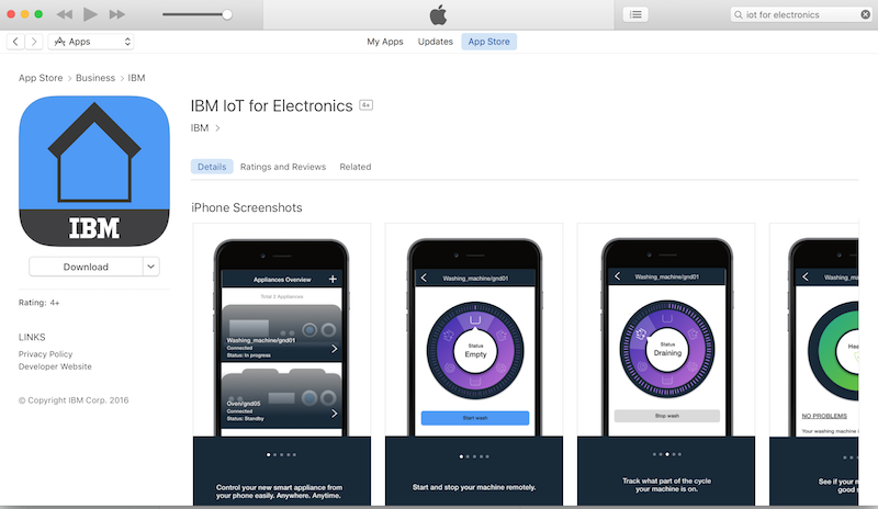 App available in iTunes